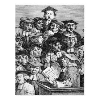 Cartão Postal Eruditos em uma leitura, o 20 de janeiro de 1736 -