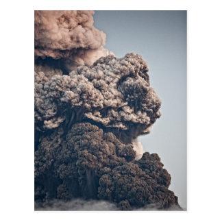 Cartão Postal Erupção vulcânica de Eyjafjalljokull