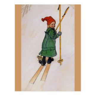 Cartão Postal Esbjorn nos esquis 1905