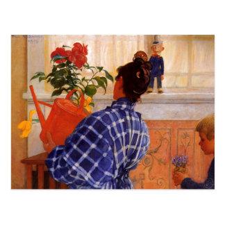Cartão Postal Esbjorn traz violetas de Karin