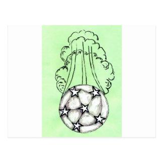 Cartão Postal Esboço 3 da bola de futebol