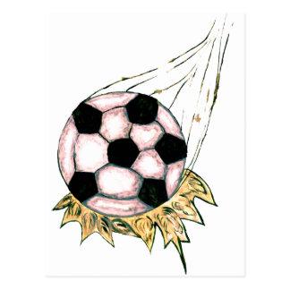 Cartão Postal Esboço da bola de futebol