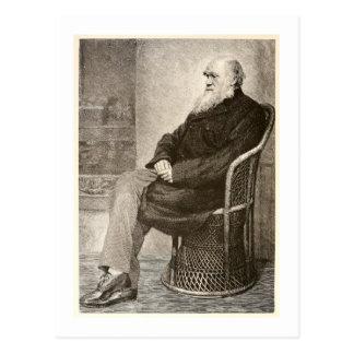 Cartão Postal Esboço de Charles Darwin, publicado em 1891