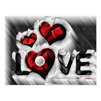 Cartão Postal Esboço do amor