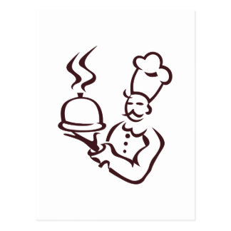 Cartão Postal Esboço do cozinheiro chefe