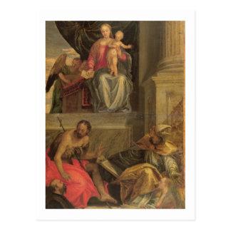 Cartão Postal Esboço para o Altarpiece de Bevilacqua