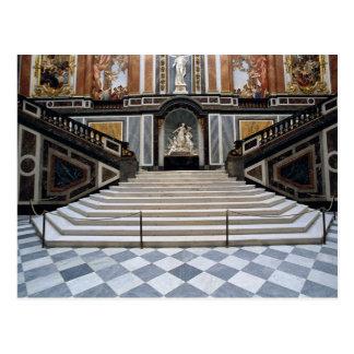 Cartão Postal Escadaria, castelo de Herrenchiemsea, Baviera,