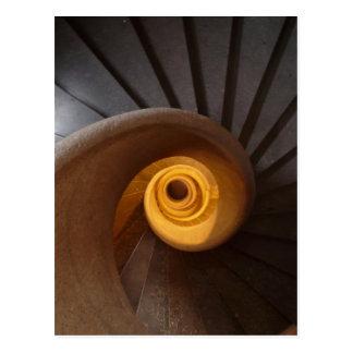 Cartão Postal Escadaria espiral velha