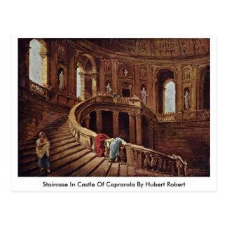 Cartão Postal Escadaria no castelo de Caprarola por Hubert