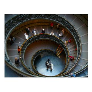Cartão Postal escadas espirais do vaticano