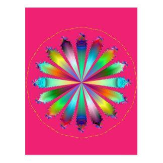 Cartão Postal Escala cor-de-rosa do Pinwheel 2003