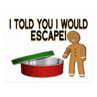 Cartão Postal Escape do biscoito