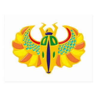 Cartão Postal Escaravelho de ouro scarab