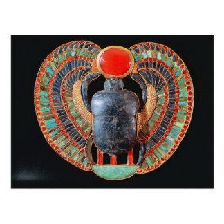 Cartão Postal Escaravelho peitoral, do túmulo de Tutankhamun