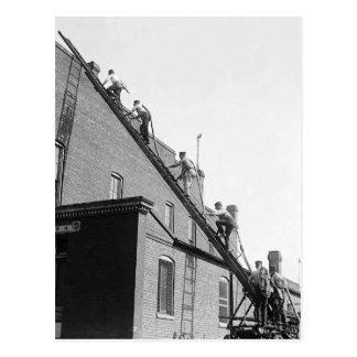 Cartão Postal Escola de treinamento dos bombeiros, 1920