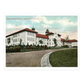 Cartão Postal Escola normal do estado, vintage de Montclair NJ