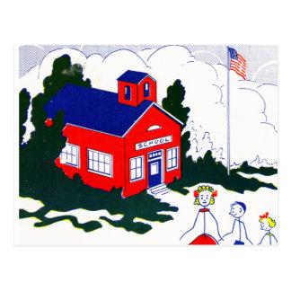 Cartão Postal Escola velha do tempo
