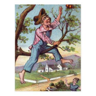 Cartão Postal Escolha de Apple do vintage