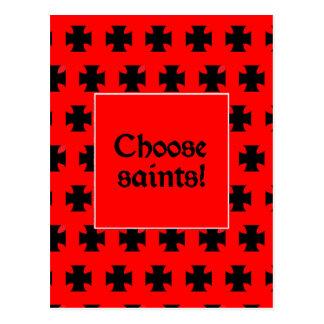 """Cartão Postal """"Escolha santos! """""""