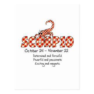 Cartão Postal Escorpião