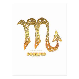 Cartão Postal Escorpião da série de Astrocelt