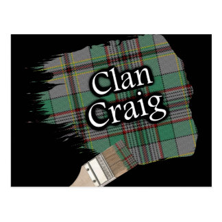 Cartão Postal Escova de pintura escocesa do Tartan de Craig do