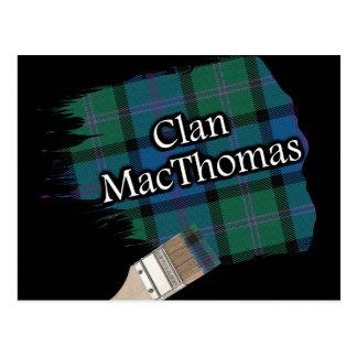 Cartão Postal Escova de pintura escocesa do Tartan de MacThomas