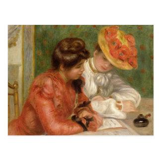 Cartão Postal Escritor de letra de Renoir