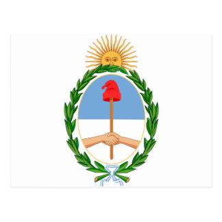 Cartão Postal Escudo de Argentina - brasão de Argentina