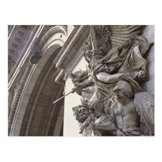 Cartão Postal Escultura do alivio em Arco do Triunfo em Paris,