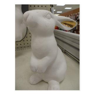 Cartão Postal Escultura do coelho