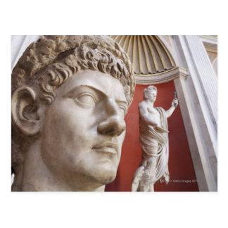 Cartão Postal Esculturas dentro do museu do vaticano, Cidade do