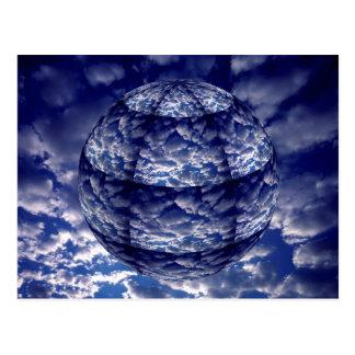 Cartão Postal Esfera abstrata da nuvem 3D
