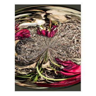Cartão Postal Esfera da flor dos rosas do cemitério