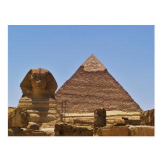 Cartão Postal Esfinge e pirâmide