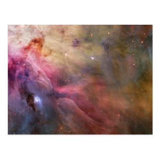 Cartão Postal Espaço de Hubble da nebulosa de Orion