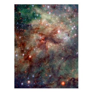 Cartão Postal Espaço de Hubble da nebulosa do Tarantula