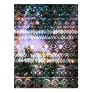Cartão Postal Espaço de teste padrão tribal Andes astecas da