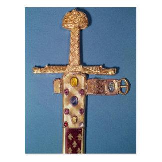 Cartão Postal Espada da coroação dos reis de France