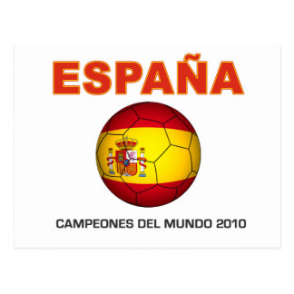 Cartão Postal España Campeón del Mundo 2010