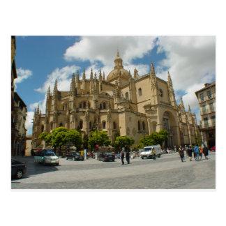 Cartão Postal Espanha da catedral de Segovia