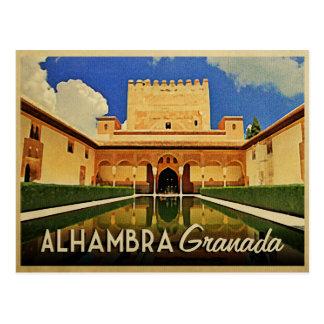 Cartão Postal Espanha de Alhambra Granada