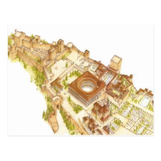 Cartão Postal Espanha de Alhambra Granada. Castelo e palácios