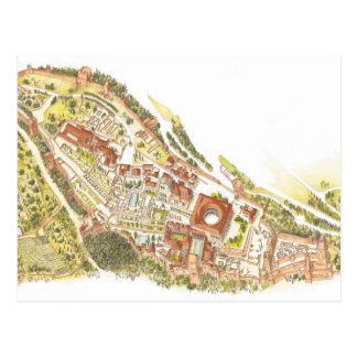 Cartão Postal Espanha de Alhambra Granada. Vista aérea