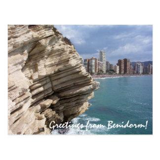 Cartão Postal Espanha do BLANCA da costela de Benidorm