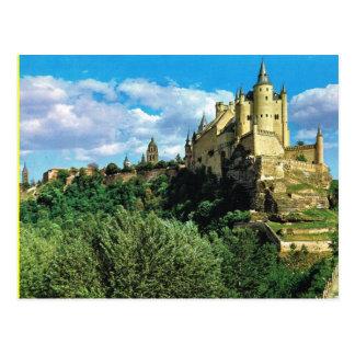 Cartão Postal Espanha do vintage,    EL Alchzar de Segovia