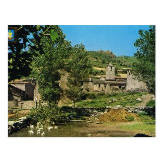 Cartão Postal Espanha do vintage, Setcases, cena rural