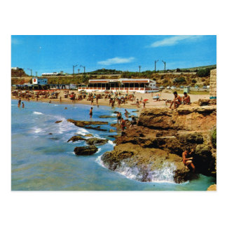 Cartão Postal Espanha do vintage, Tarragona, costela Dorada