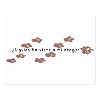 Cartão Postal Espanhol-Dragão