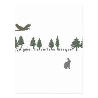 Cartão Postal Espanhol-Floresta
